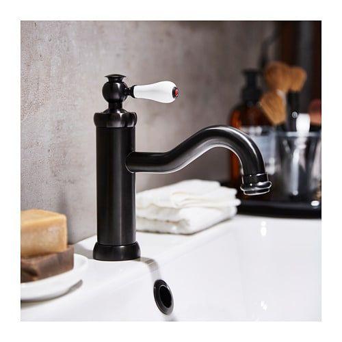 Hamnskar Mitigeur Lavabo Avec Bonde Noir Ikea In 2020 Bath Faucet Bathroom Faucets Basin Mixer Taps