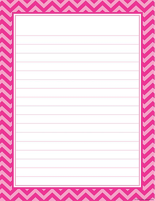 Hot Pink Chevron Lined Chart – Lined Chart Paper