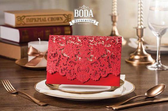 ¡Mi amor las invitaciones! No te preocupes te tenemos cubierto, checa nuestro modelo Giabupa y ordénalas hoy mismo ;).  | #TodaTuBodaEnUnSoloLugar#bodaydecroacion #invitaciones #rojo #weddinginvitations #red #lacelike  #boda #groom #bestman #picoftheday #crafts #igers #WeddingCrafts