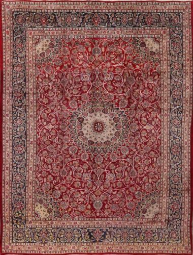 Great-Deal-Traditional-Red-9x12-Mashad-Persian-Oriental-Area-Rug-12-039-2-034-x-9-039-4-034