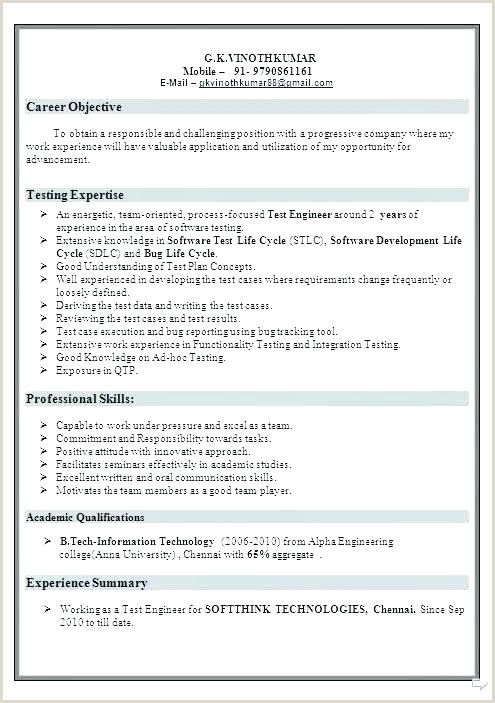 Fresher Resume Format For Manual Testing In 2020 Resume Format Resume Manual Testing