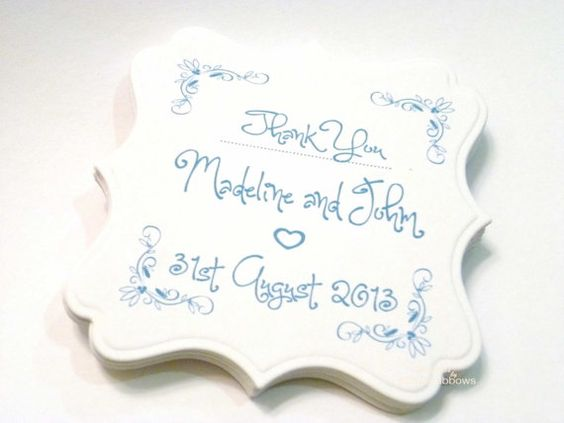 Personalized Printed Wedding Thank you gift tags by puffylambbows, 50pcs for only $10.00!