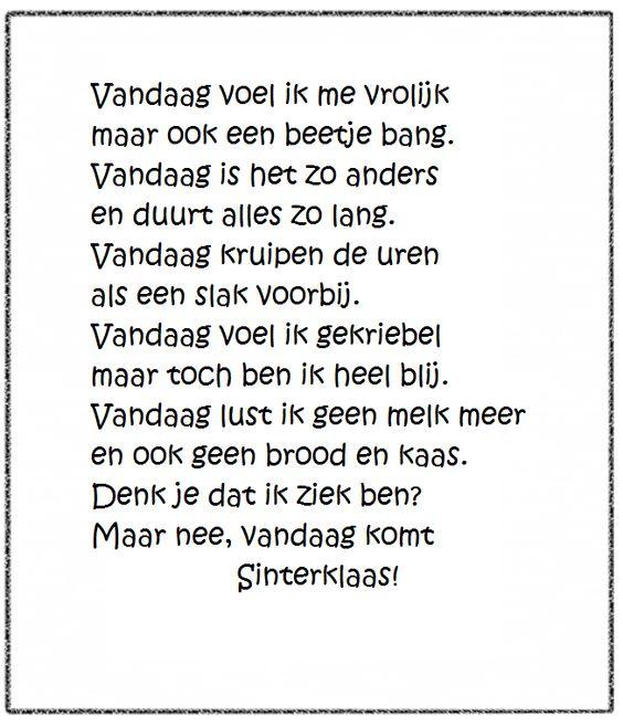 Versje Sinterklaas *liestr*:
