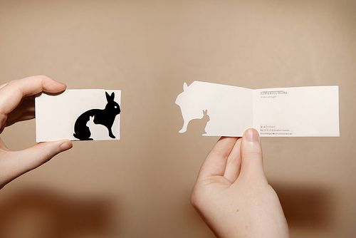 business card by laumette, via Flickr