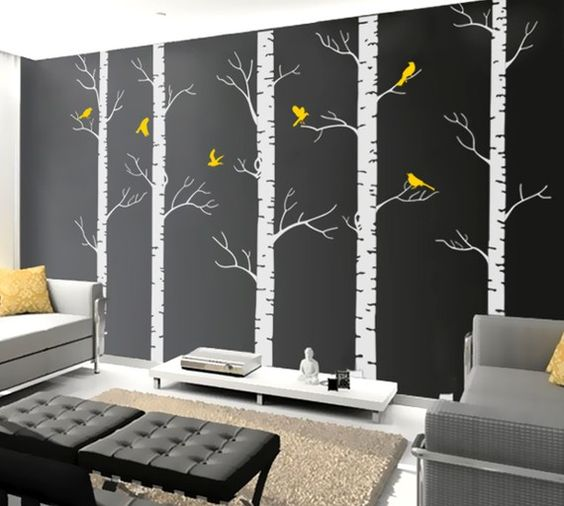 Cool wall work related ideas pinterest cool walls for Aspen tree wall mural