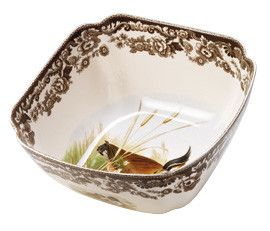 Woodland Quail and Lapwing Serving Bowl