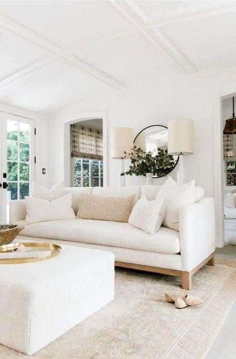 53 Lovely Neutral Decoration Ideas For Your Living Room Modern White Living Room White Furniture Living Room Elegant Living Room