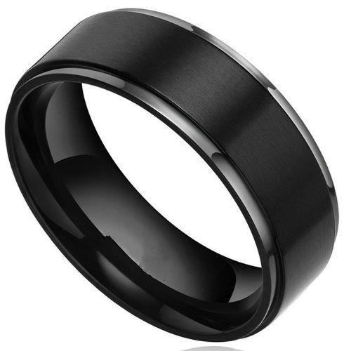 Benchmark Mens Wedding Band in Black Titanium (6mm)