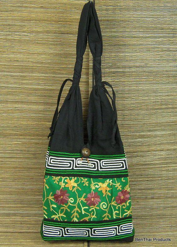 Hippie Hobo Shoulder Bag Purse Handbag Cotton by BenThaiProducts, $14.50