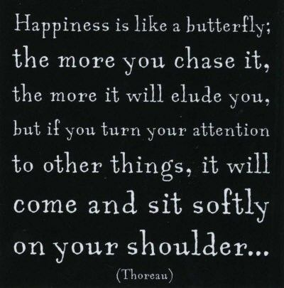 happiness: Chasing Butterflies, Happiness Is, So True, Quotes Sayings, Favorite Quotes, Thoreau Quotes, Happiness Quote, Butterfly Quote, Henry David Thoreau