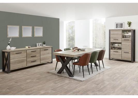 Table Au Style Atelier Pieds Bois Ou Metal Mobilier De Salon Table Salle A Manger Deco Dressing