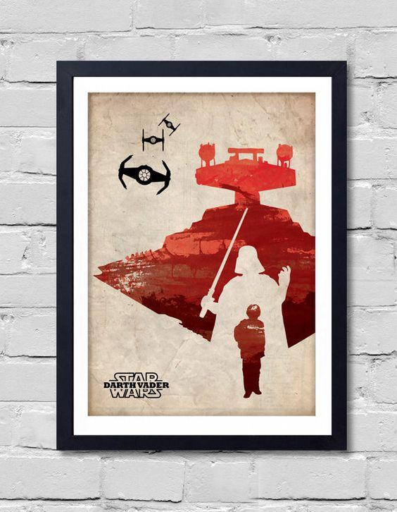 Vintage Star Wars Poster. Darth Vader