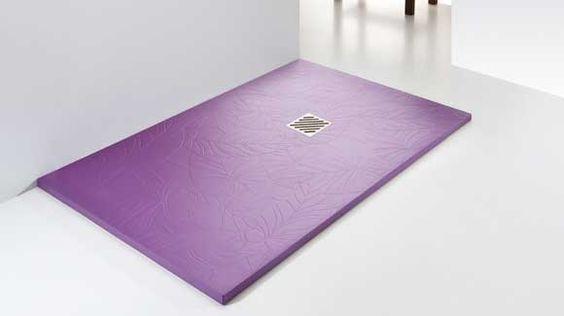 Platos de ducha plano de diseño y textura hojas