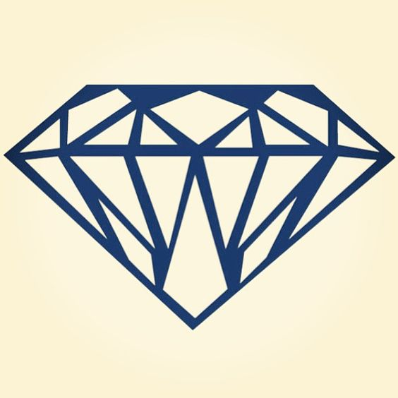diamond in thick blue outline | Shine bright like a ...