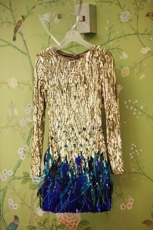 I love something about this gold and blue dress