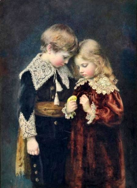 Children And Canary~ Agnes Gardner King