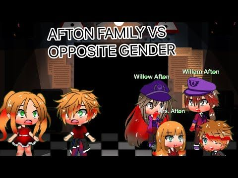 Afton Family Vs Opposite Gender Youtube In 2020 Afton Opposites Family