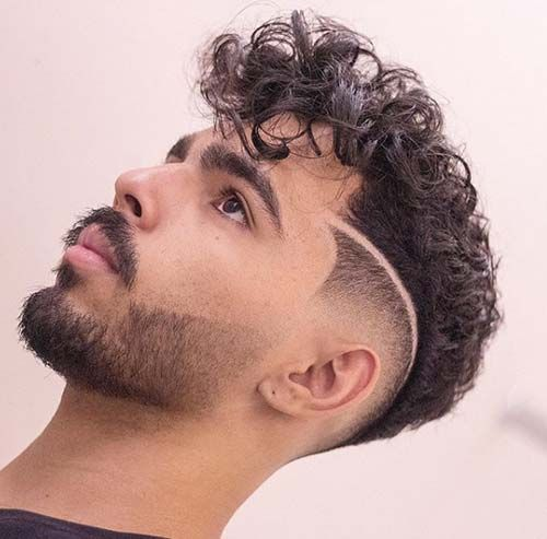 Curly Undercut: 30 Modern Curly Haircuts for Men - Men's Hairstyle Tips
