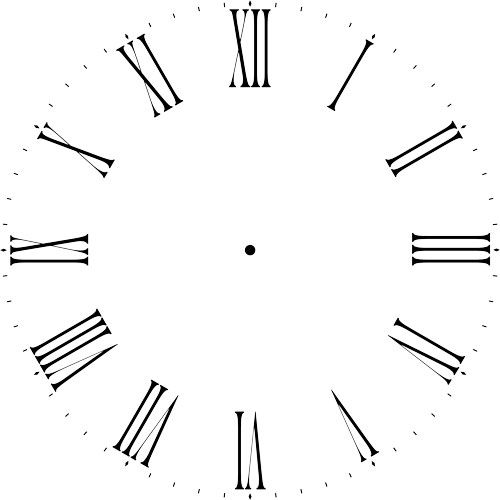 Thin Roman Numeral 12 40 Clockface Wall Stencil Choice Of Sizes Clock Stencils Roman Numeral Clock Stencils Wall