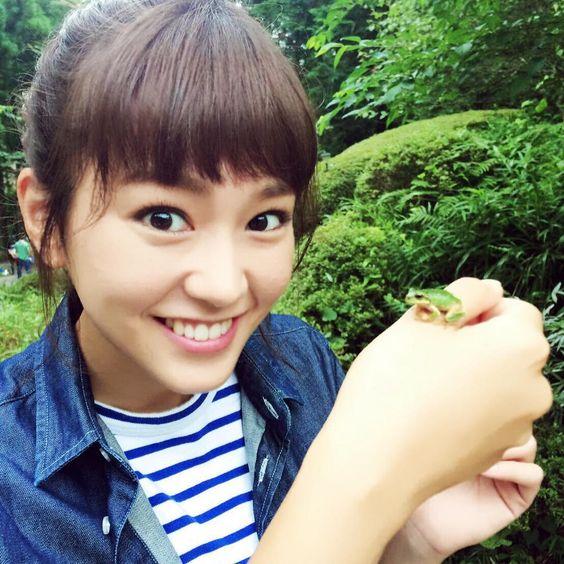 カエルと桐谷美玲