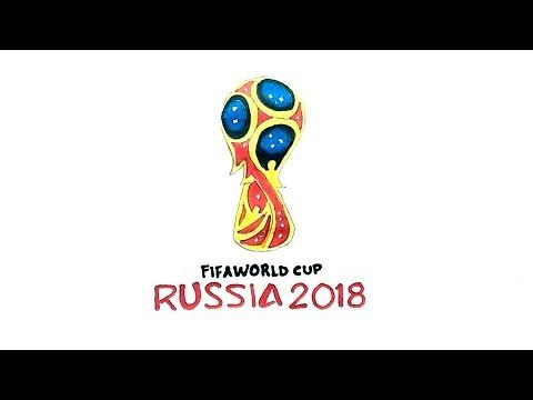 How To Draw The Fifa World Cup Russia 2018 Logo World Cup Russia 2018 World Cup Fifa World Cup