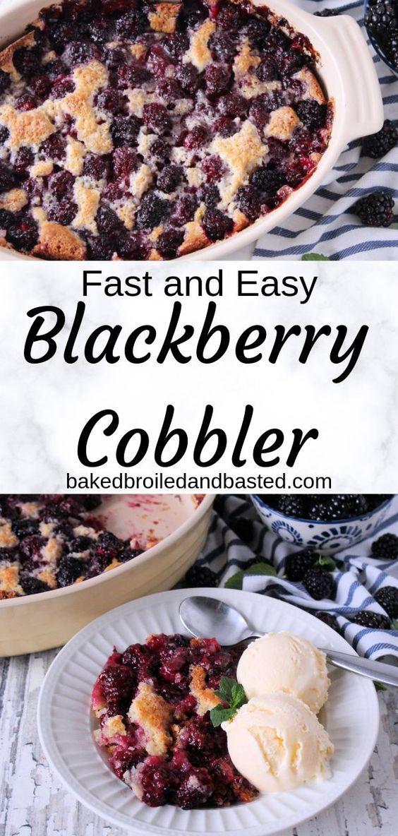 Easy Blackberry Cobbler
