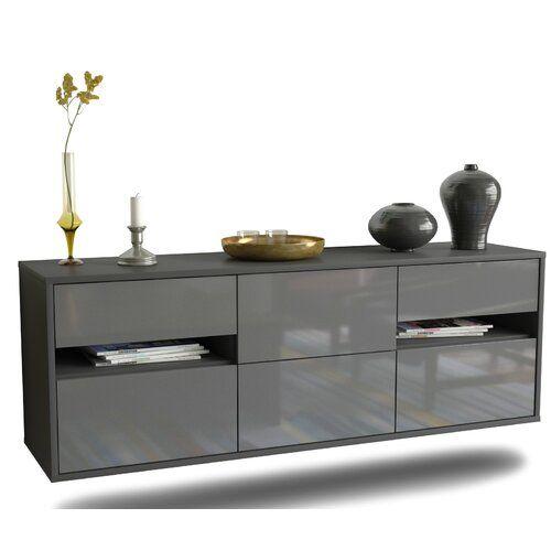 Tv Lowboard Brydon Ebern Designs Farbe Grau Hochglanz In 2020