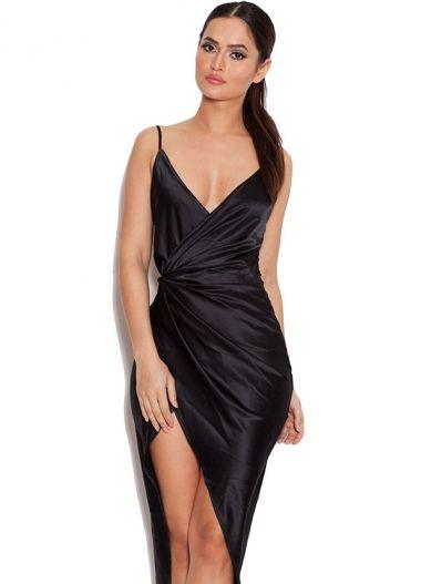 Coco&39 Black Satin Drape Back Dress  Fancy dresses  Pinterest ...