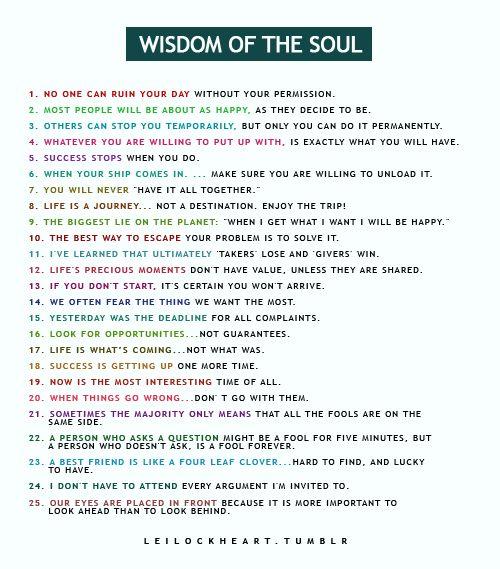 fitness for the soul: Soul Food, Word Of Wisdom,  Website, Leilockheart Leilockheart, Life Lessons, Wisdom Quotes, Quotes Sayings, Wise Words, Soul Wisdom