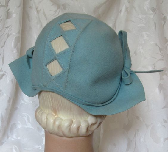 Vintage 1940's Wool Peekaboo Hat with Diamond Cut Outs ~ New York Creation | eBay