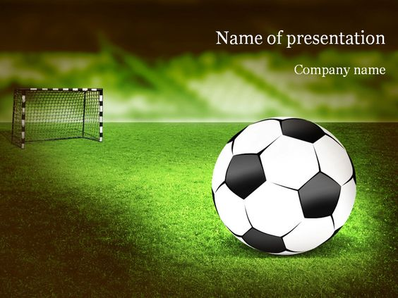 Football Powerpoint Template Purple  Sport Powerpoint Templates
