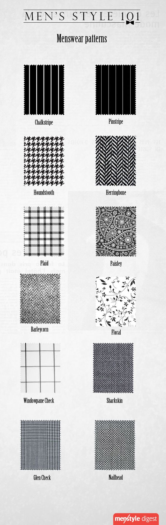 To most boys and the satorially uneducated its just a for Most popular fabric patterns