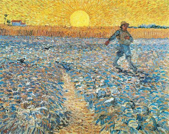 """""""Sembrador con el sol poniente"""" (1888) de Vincent van Gogh"""