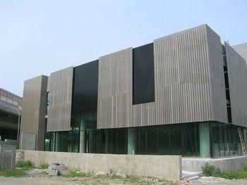 Wood Plastic Composite Exterior Cladding Panel View Architectural Sun Shading Lesco Product
