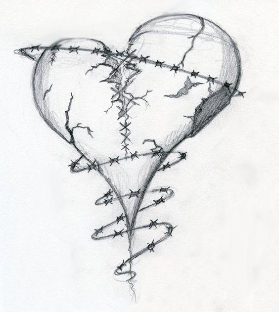 Broken Heart Drawings | Broken Heart by ~Dravek on ... Pencil Drawings Of Broken Hearts