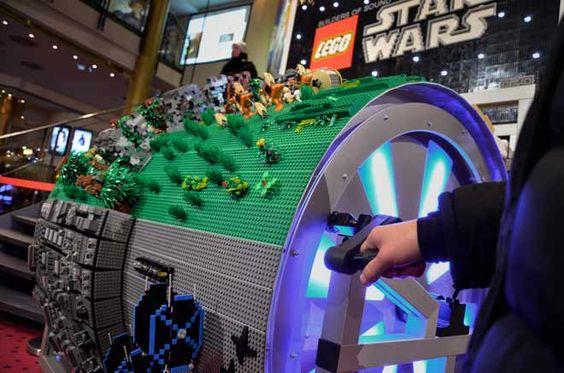 Barrel Organ Made of 20,000 Lego Bricks Plays Star Wars Theme