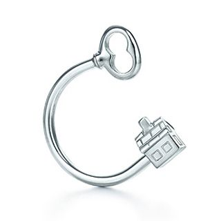 Tiffany & Co House and Key Key Ring