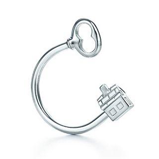 Tiffany & Co House and Key Key Ring