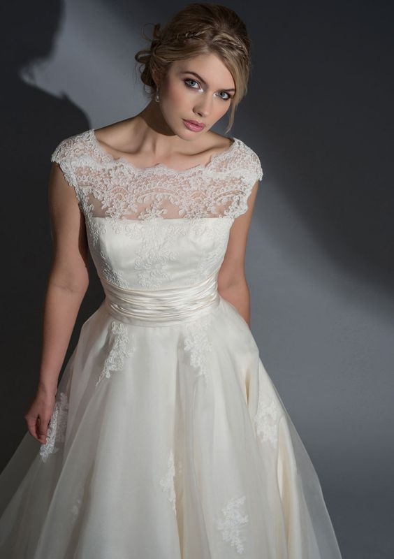 Lo Frederica Silk Organza Dress With A Corded Lace Bodice Oh The Top Part