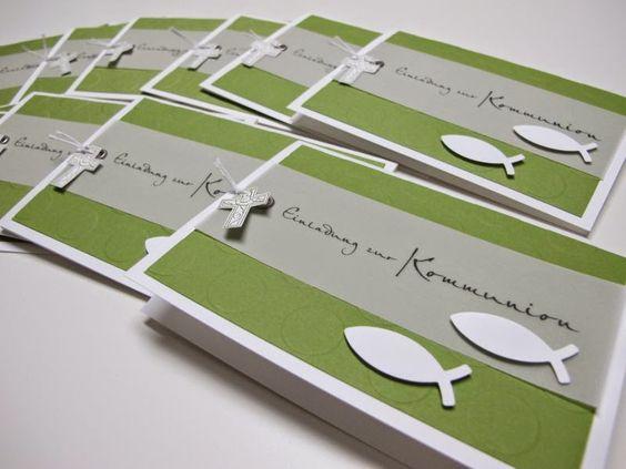Einladungen Zur Kommunion Und Passendes Fotoalbum .