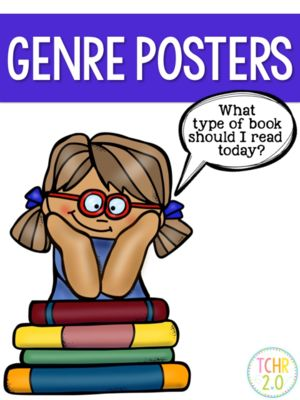 Reading Genre Posters Anchor Charts from TCHR2.0 on TeachersNotebook.com -  (28 pages)  - Reading Genre Posters Anchor Charts