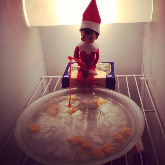 Elf on the shelf ice fishing elf on the shelf for Elf on the shelf fishing