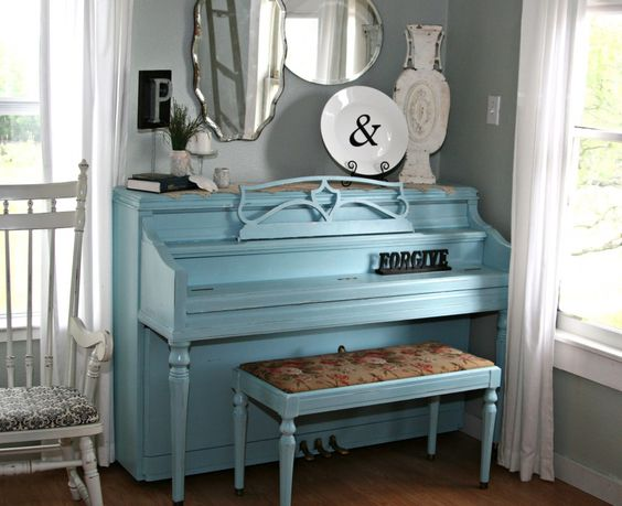 I want to paint our old piano so bad but my husband thinks I'm crazy!