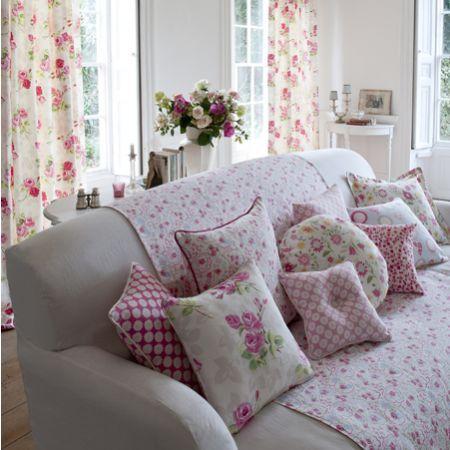 Nostalgic Prints - Lovely floral vintage inspired fabrics - without the hefty pricetag!!! www.curtainsmadeforfree.co.uk