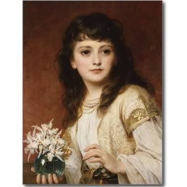Sir Francis Dicksee / Portrait of a Girl