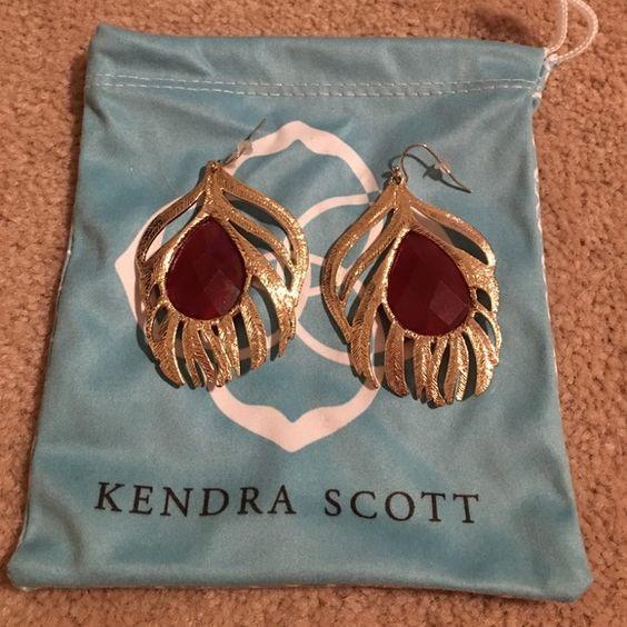 Kendra Scott Elena Feather Earrings