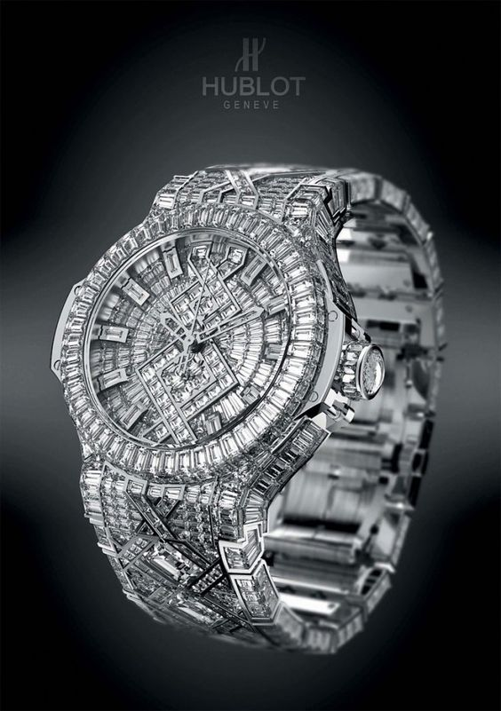 Ah go on then... Put it on the dream watch board!! ~~~ Worth $5m. Watch Hublot '5 Million' (most expensive watch worldwide) with 1282 diamonds.
