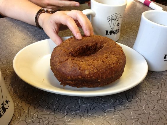 Is it a good idea to eat a donut bigger than your head on a low FODMAP diet when dining out?