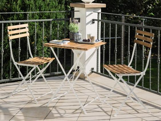Sun-Fun Elements Balkon-Set Moni (3-tlg., Naturbraun)