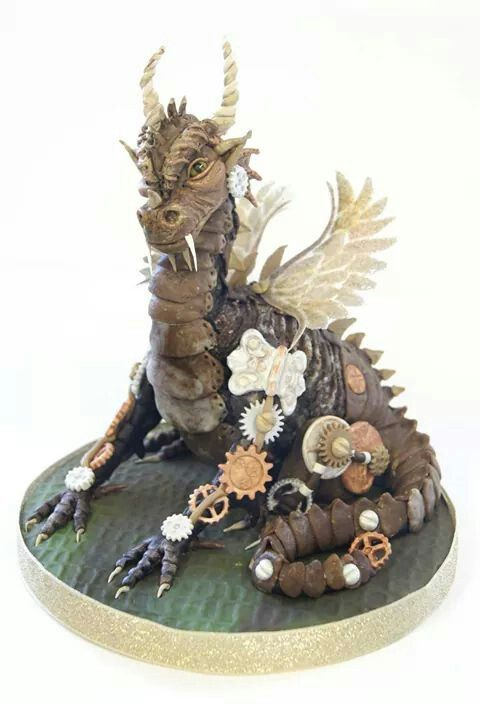 dragon stampunk cake  (from where?)